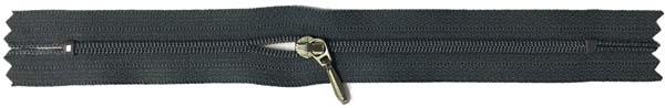 YKK #3 Coil Pocket Zipper - 7 inch - Charcoal
