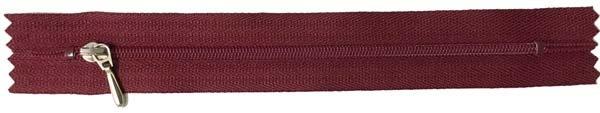 YKK #3 Coil Pocket Zipper - 7 inch - Dark Burgundy