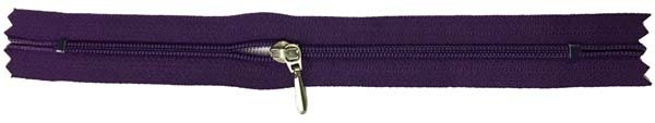 YKK #3 Coil Pocket Zipper - 7 inch - Dark Plum