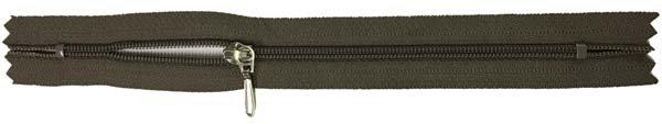 YKK #3 Coil Pocket Zipper - 7 inch - Dark Mushroom