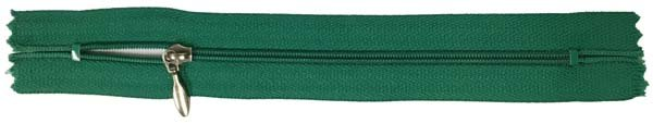 YKK #3 Coil Pocket Zipper - 7 inch - Kelly Green