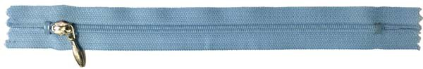 YKK #3 Coil Pocket Zipper - 7 inch - Light Blue