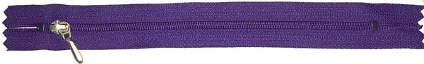 YKK #3 Coil Pocket Zipper - 7 inch - Purple