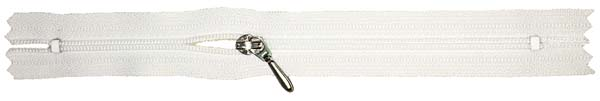 YKK #3 Coil Pocket Zipper - 12 inch - White
