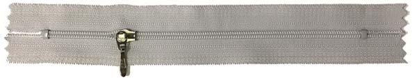 YKK #3 Coil Pocket Zipper - 7 inch - Light Grey