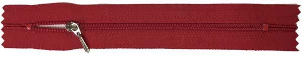 YKK #3 Coil Pocket Zipper - 7 inch - Red