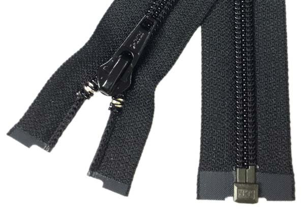 YKK #8 Coil 1-Way Separating Zipper - 30 inch - Black