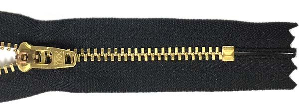 YKK #4.5 Metal Non-Separating Zipper - 9 inch - Black