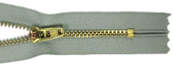 YKK #4.5 Metal Non-Separating Zipper - 9 inch - Light Grey