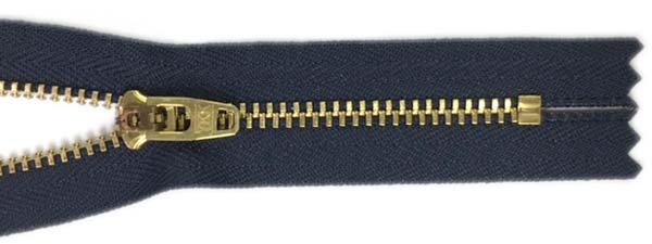 YKK #4.5 Metal Non-Separating Zipper - 9 inch - Navy