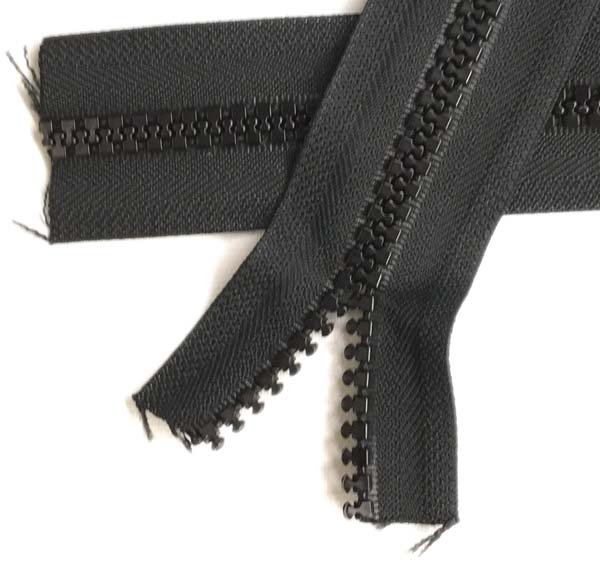 """1 YKK Zippers 60/"""" Black #10 Metal Pull with Free Top Stops"""