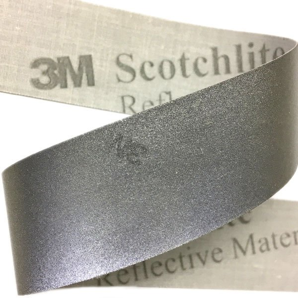 3M Scotchlite Sew On - 1 inch - Silver 3M Logo
