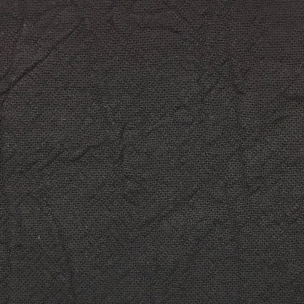 Cotton Crinkle Woven - Black