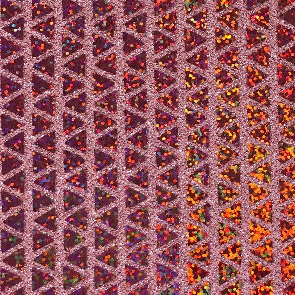 Triangle Hologram Sequins - Pink