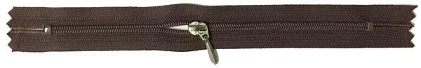 YKK #3 Coil Pocket Zipper - 7 inch - Brown