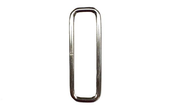 Metal Rectangle - 2 inch - Nickel