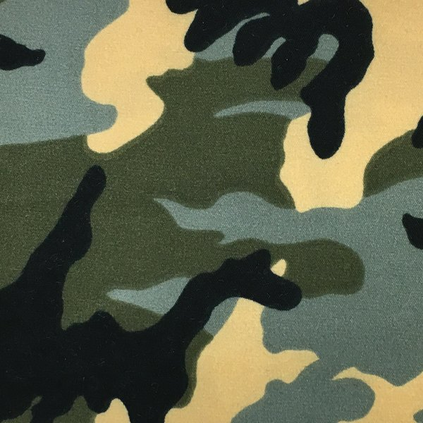 Sueded Microfiber - Olive Camouflage
