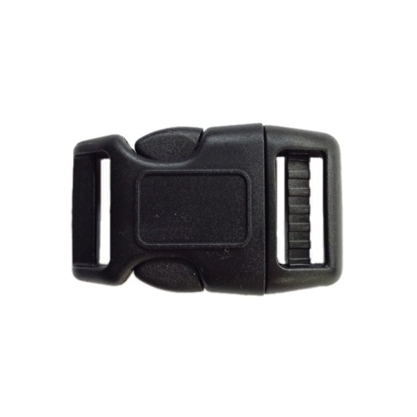 Curved Side Release Buckle - 1 inch - Black - Full Box