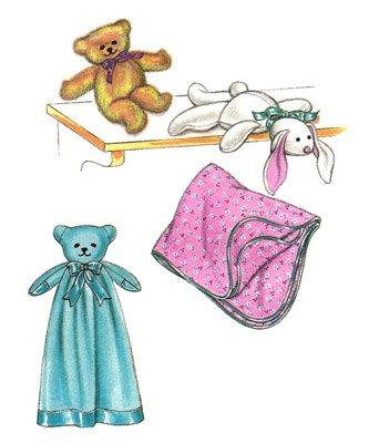 KS2791 - Bear Blanket Teddy Bear