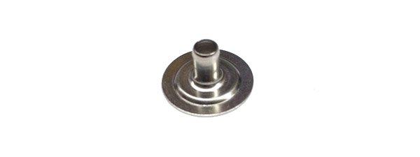 Snap Eyelet - Size 24 - Nickel/Brass - 5/16 long post