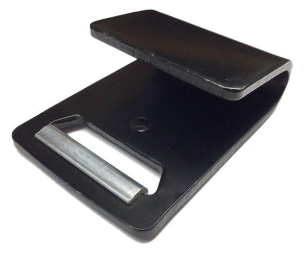 Ancra Flat Hook Standard - 2 inch - Black Metal