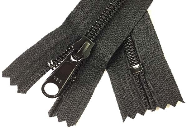YKK #5 Coil Non-Separating Zipper - 13 inch - Black