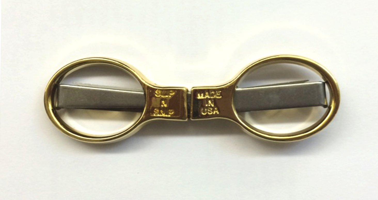 Slip-n-Snip Folding Scissors - Gold