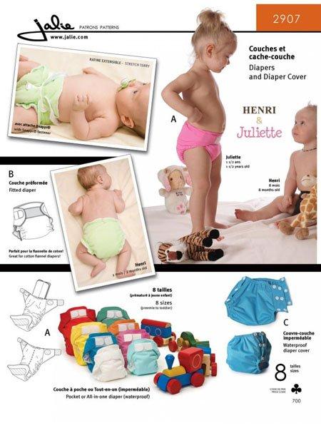 Jalie 2907 - Diaper Cover/Diaper