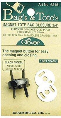 Magnetic Closure - 3/4 inch - Black/Nickel