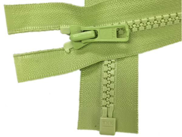 YKK #5 MT 1-Way Separating Zipper New Style - 20 inch - Lime