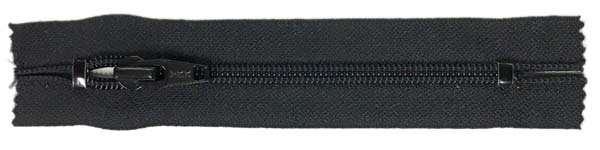 YKK #5 Coil Old Style Pocket Zipper - 5 inch - Black