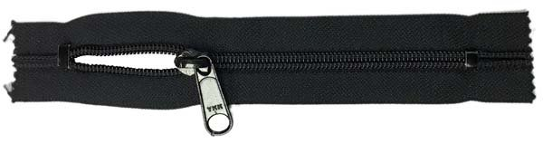 YKK #5 Coil Pocket Zipper - 6 inch - Black