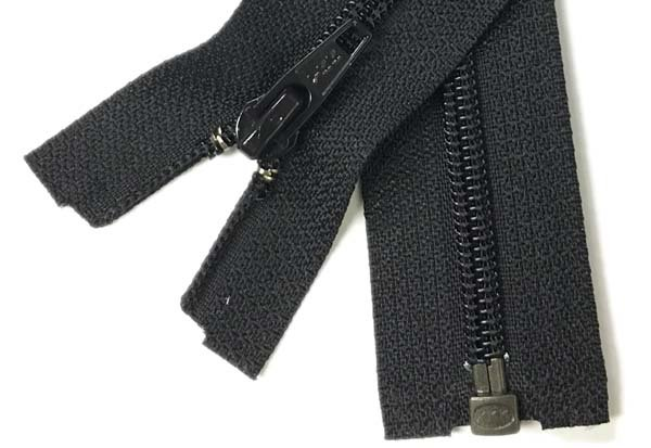 YKK #4.5 Coil 1-Way Separating Zipper - 16 inch - Black