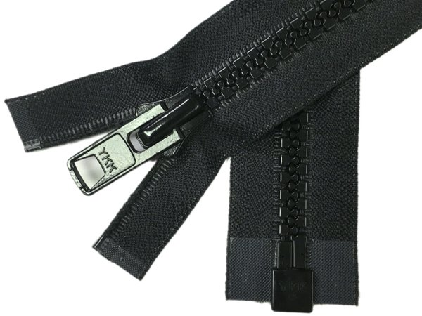 YKK #10 MT 1-Way Separating Zipper - 30 inch - Black