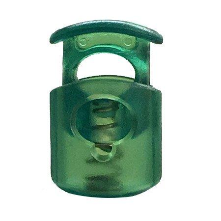 Short Ellipse Cordloc Toggle - Green Transparent