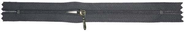 YKK #3 Coil Pocket Zipper - 7 inch - Dark Grey