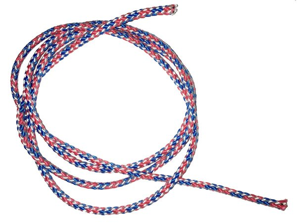 1/8 inch - Round Polypropylene Cord - Red/White/Blue