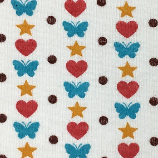 50/50 Baby Rib - Hearts & Butterflies
