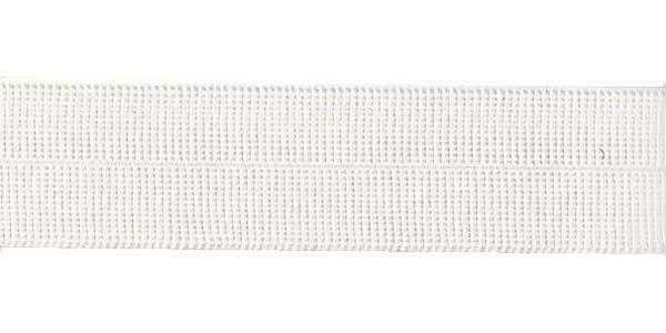 3/4 inch - Foldover Elastic - White
