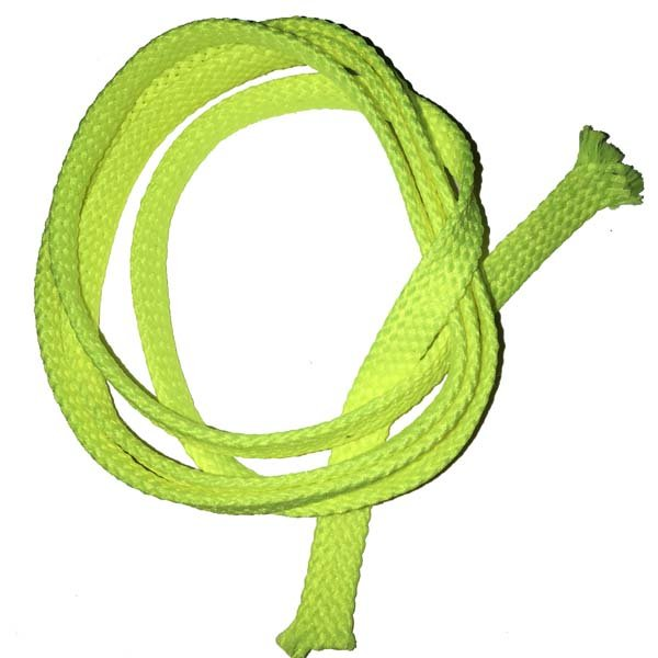 1/4 inch - Flat Polyester Cord - Fluorescent Yellow