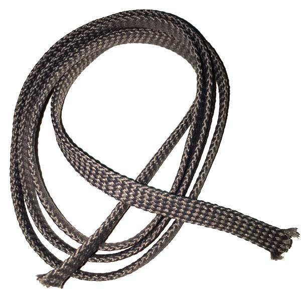1/4 inch - Flat Polyester Cord - Medium Grey