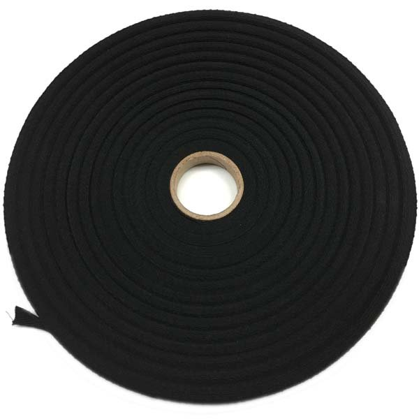 Roll - Twill Tape Cotton - 1/2 inch - Black
