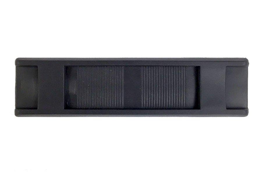 Square End Shoulder Pad - 1 inch - Black