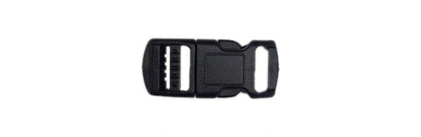 Contoured Side Release Buckle - 3/8 inch - Black