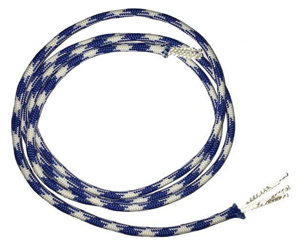 5/32 inch - Polyester ParaCord - Royal /White