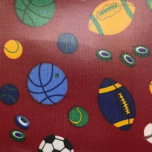 Vinyl Coated Cotton - Red Balls