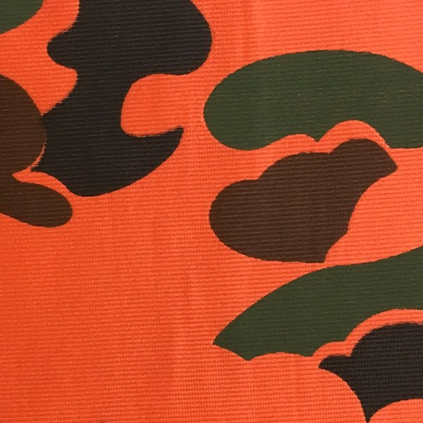 Polyester Warp Knit - WWII TriColor Blaze Orange