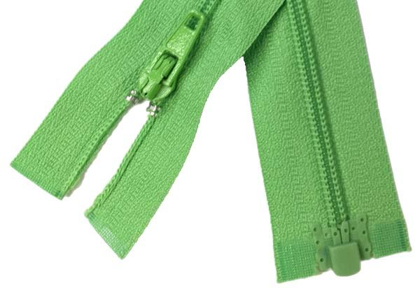 3 Coil 1-Way Separating Zipper - 24 inch - Spring Green (brand unknown)
