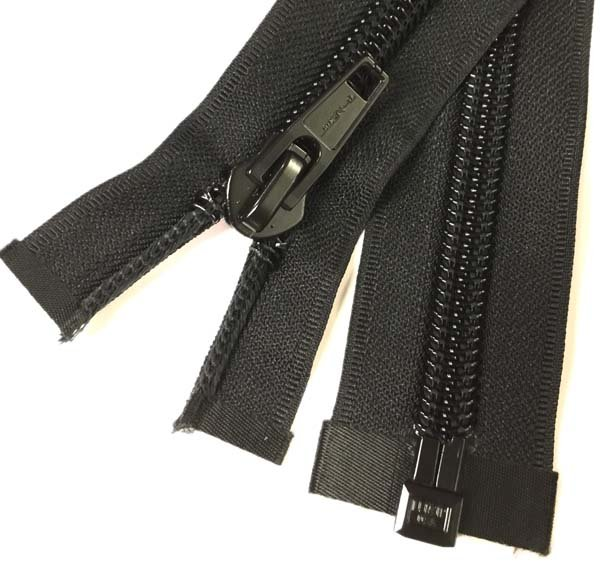 LENZIP #10 Coil 1-Way Separating Zipper - 71 inch - Black