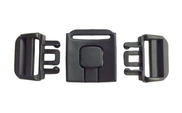 3 Point Harness Buckle - 1 inch - Black